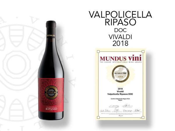 Medaglia d'oro al Mundus Vini per il Ripasso Vivaldi