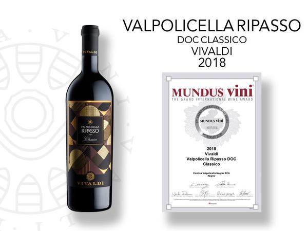 Medaglia d'Argento per il Ripasso Premium al Mundus Vini