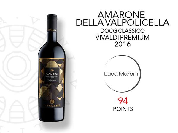 94 punti per l'Amarone Vivaldi Premium da Luca Maroni
